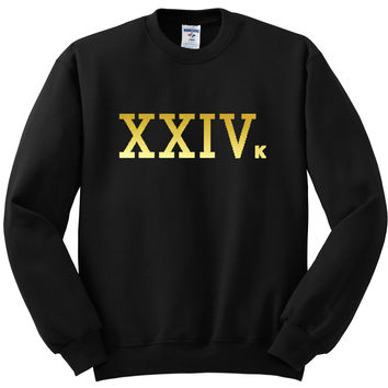 "Bruno Mars ""24k Magic - XXIVk"" Crewneck Sweatshirt"