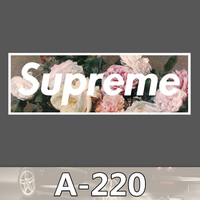 A-220 Supreme Waterproof DIY Stickers For Laptop Luggage Fridge Skateboard Car Graffiti Cartoon Stickers