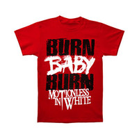 Motionless In White Men's  Burn Baby Burn T-shirt Red Rockabilia