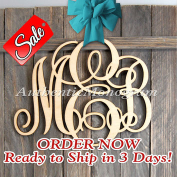 Wooden Monogram Wall Letters Unpainted - Home Decor Monogram -  Wedding Decor Monogram - Door Hanger - Nursery Monogram, Love 1101*