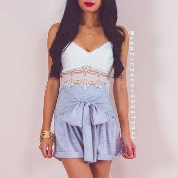 Standing Strong High Waisted Shorts - Grey