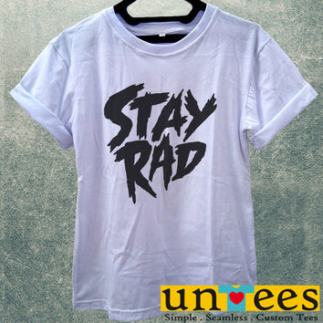 Low Price Women's Adult T-Shirt - Stay Rad Logo design
