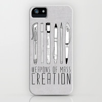 weapons of mass creation iPhone & iPod Case by Bianca Green