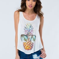 Summer Lovin' Pineapple Graphic Top