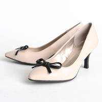 kennedy patent bow heels - $34.99 : ShopRuche.com, Vintage Inspired Clothing, Affordable Clothes, Eco friendly Fashion