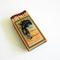 Large Candle Matches - Alice's Adventures in Wonderland - Oversized Matchbox with Book Cover - Lewis Carroll