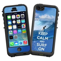 """Keep Calm and Surf On """"Protective Decal Skin"""" for LifeProof nuud iPhone 5 Case"""