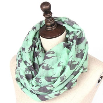 Elephant Infinity Scarf - Multiple Colors