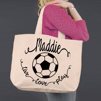 Soccer | Personalized Canvas Tote Bag