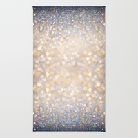 Glimmer of Light (Ombré Glitter Abstract) Area & Throw Rug by soaring anchor designs ⚓ | Society6