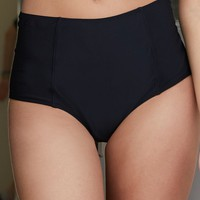 LA Hearts Seamed High Rise Bikini Bottom - Womens Swimwear - Black