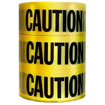 HDX 3 In x 1000 Ft Caution Tape 3 Pack Plastic Remains Pliant In Cold Weather