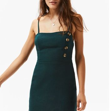 Asymmetrical Button Shift Dress | PacSun