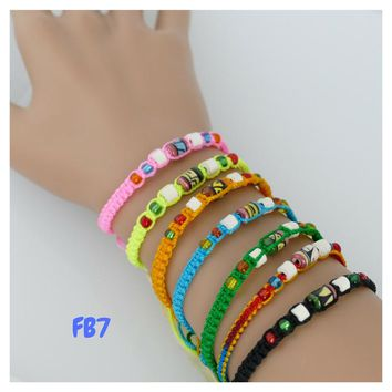 100 Friendship Bracelets Assorted Model FB7 Beaded Peruvian Friendship Bracelets