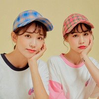 Buy icecream12 Plaid Cap | YesStyle