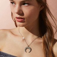 Allison Rhinestone Pendant Necklace | Urban Outfitters