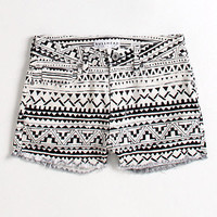 Tribal print shorts at PacSun.com