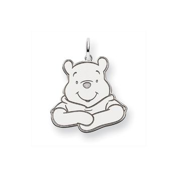 Disney's Sterling Silver Winnie the Pooh Silhouette Pendant