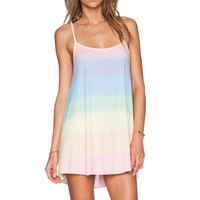 Wildfox Couture Bell's Pastel Tie Dye Beach Dress in Multi