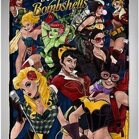Bombshells DC Comics Fleece Blanket - Spencer's