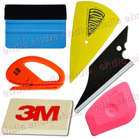 6 IN 1 Car Wrapping Tool Kits Lil Chizler 3M Felt squeegee Woollen Squeegee Safety Snitty Cutter Vinyl Sticker Application