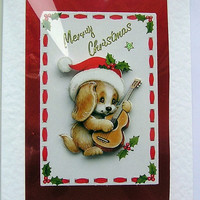 Christmas Card - Merry Christmas Hand-Crafted 3D Decoupage Card - Merry Christmas (1614)