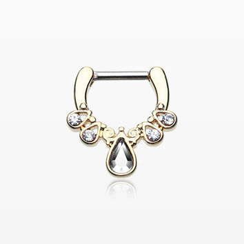 Golden Radiant Kao Septum Clicker