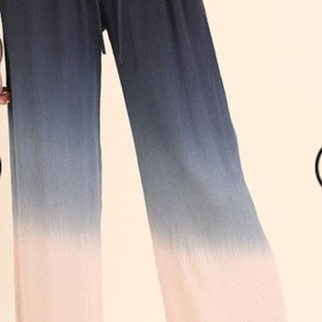 Ombre Pants with Drawstring Detail