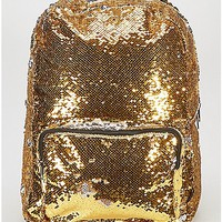 Gold and Silver Magic Sequin Backpack - Spencer's
