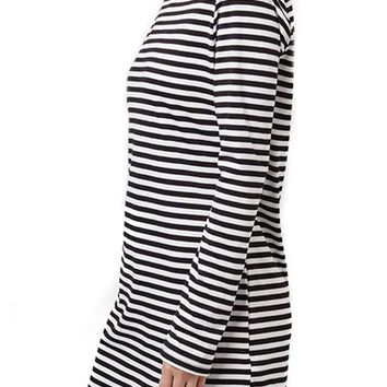 Topshop Stripe Long Sleeve Tunic Dress | Nordstrom