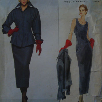 VOGUE Lagerfeld Chic Jacket n Dress Vogue Paris Original  Uncut Pattern 1412  Haute Couture Paris