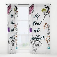 Lets grow old together Window Curtains by famenxt