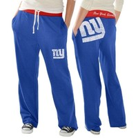 New York Giants Ladies Recruit Fleece Pants - Royal Blue