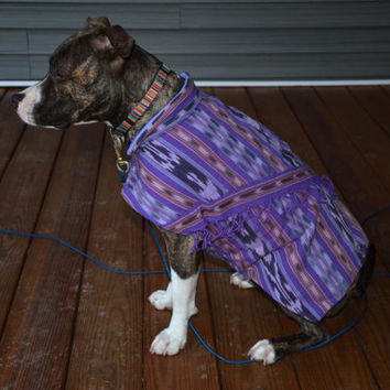 Medium Sized Southwest Upcycled Dog Coat