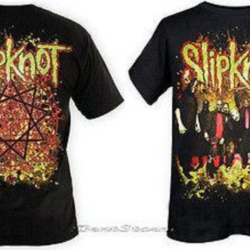 Licensed cool NEW Slipknot Dirt T-Shirt Heavy Metal Music Band Black Tee T-shirt Men's SMALL