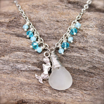 seaglass silver anklet sterling glass listing sea il rgyq