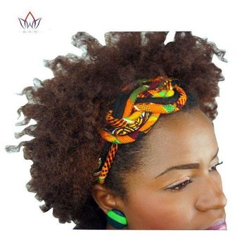 ICIKION New Vintage Women Headbands Hair Accessories Beads African Printed Wax Headbands for Women Colorful Hair Sticks Hairbands WYS02