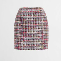 Tinsel plaid mini skirt