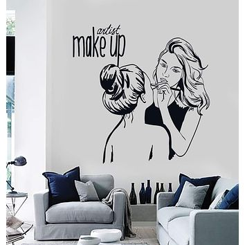 Vinyl Wall Decal Make Up Artist Cosmetic Beauty Salon Stickers Mural Unique Gift (ig4535)