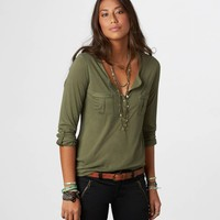 AE Hi-Lo Henley | American Eagle Outfitters