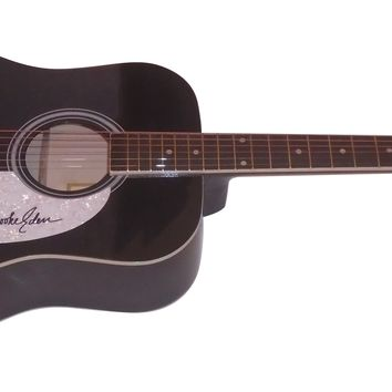 """Brooke Eden Autographed Full Size 41"""" Country Music Acoustic Guitar, Proof Photo"""