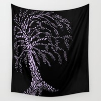 Wisteria Tree Wall Tapestry by ES Creative Designs