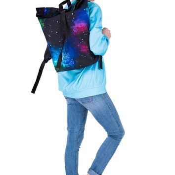 FAB Galaxy Black & Blue Courier Backpack