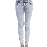 4-Button High Waisted Skinny Jeans | Wet Seal