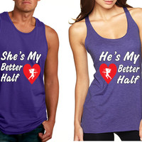 she and hes my better half tanktop