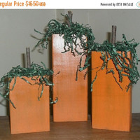 ON SALE TODAY Wooden Pumpkins Set of 3 Rustic Halloween Decor Thanksgiving Decor Fall Decor
