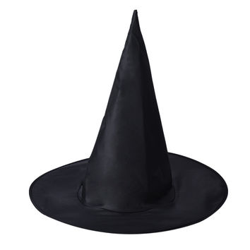 2016 Cool Adult Women Black Witch Hat For Halloween Costume Accessory Hot Sale Costume Party Props Free Shipping