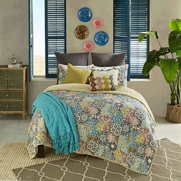 Riyadh Reversible Quilt Set - Bedding | Blissliving Home