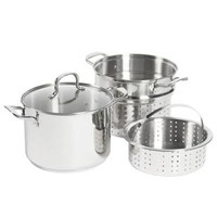SALT™ 8 qt. Stainless Steel 4-Piece Multi-Cooker