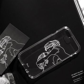 Lovers' Kissing Couples Printed Iphone 7 7Plus &6 6S Plus Cover Case + Nice Gift Box